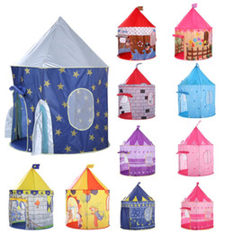 Discount indoor princess tents - 135CM Kids Play Tent Ball Pool Tent Boy Girl Princess Castle Portable Indoor Outdoor Baby Play Tents House Hut For Kids