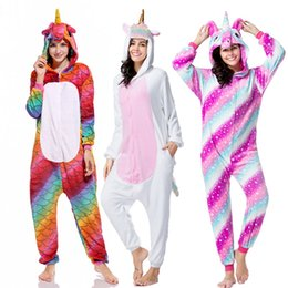 Chinese  New Women's Pijamas Anime Unicorn Flannel Sleepwear Pajamas Girls Stitch Hooded Onesies Pyjamas Homewear Adult Cartoon Costumes manufacturers