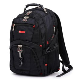 Waterproof computer backpacks for men online shopping - Brand Swiss Laptop quot Backpack External Swiss Computer Backpacks Anti theft Backpack Waterproof Bags For Men Women Backpack Y19061102