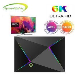 $enCountryForm.capitalKeyWord Australia - 1 PCS Android 9.0 TV Box 4GB 64GB Allwinner H6 Quad Core 6K Ultral HD Streaming Media Player 2.4G Wifi Smart TV box IPTV media player