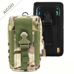 Iphone Tactical Australia - Universal Outdoor Tactical Holster Military Waist Belt Bag Wallet Pouch Purse Phone Case For iPhone XR XS max X 7 8 Plus Samsung OPP