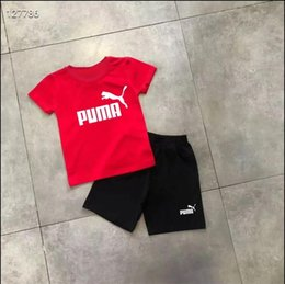 boy suit sports NZ - 2020 summer Brand kids clothes set boys sport suit children short-sleeve T-shirt+shorts pant girls clothing jogging tracksuit 125