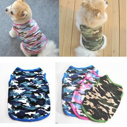 Cheap Female Clothing Australia - Pet Dog Clothes Dog Vest Summer Camouflage Clothing For Puppy Chihuahua Teddy Small Dogs Cotton shirt Clothing Coat Cheap wholesale