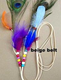 $enCountryForm.capitalKeyWord Australia - New indian peacock feather pendant headband Newest Bohemian Beads Feather Floral Ribbon Elastic Headbands