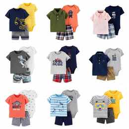 4deb98932 cartoon tshirt tops+bodysuit+shorts for baby boy clothes newborn set 2019  summer outfit new born clothing suit tracksuit
