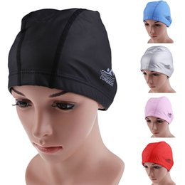 swim caps Australia - Kids Adult Swim Caps Soft Silicon Swimming Cap Waterproof Diving Caps Cover Flexible Protect hair ear for diving swimming