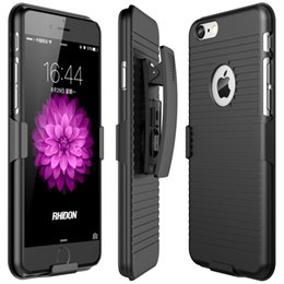 Iphone Case Clip Combo Australia - Holster Case 2 in 1 Hybrid Hard Shell Holster Combo Kickstand Belt Clip For iPhone 6 6S iPhone 6 plus 6s plus iPhone 7 plus iPhone 8 8 plus