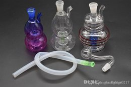 thick small bong UK - Mini Bong Thick Dab Rig Nano Bubbler Oil Rig Heady Glass Dab Rigs Bongs Water Pipe Small Bong Recycler Pyrex Water Bongs