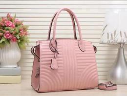 $enCountryForm.capitalKeyWord Australia - 2019 Lady Hand bag PU Leather Handbags Designer Fashion Lady Shoulder Bags Women Wallet Clutch Tote bag pink Vertical stripe Casual Tote
