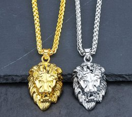 $enCountryForm.capitalKeyWord Australia - Sliver Hot Mens Hip Hop Jewelry Iced Out 18K Gold Plated Fashion Bling Bling Lion Head Pendant Men Necklace Gold Filled For Gift Present