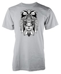$enCountryForm.capitalKeyWord Australia - Lion Mandala Patterned Tattoo Style Adult T-Shirt