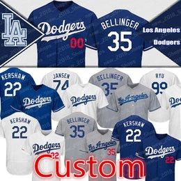 los angeles baseball 2019 - Custom 35 Cody Bellinger Dodgers 22 Clayton Kershaw Los Angeles 14 Enrique Hernandez 31 Mike Piazza 10 Justin Turner 5 C