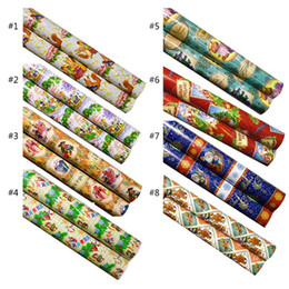 waterproof wrapping paper Canada - Christmas Gift Waterproof Wrapping Paper Laser Iris Paper Party Wedding Supplies XXFA