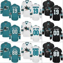 San Jose Sharks Jersey  39 Logan Couture  42 Joel Ward  48 Tomas Hertl  50  Chris Tierney  88 Brent Burns Hockey Jerseys 14d5b6087
