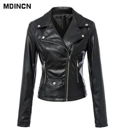 ladies leather jackets Australia - New Fashion Women Autunm Black Color Faux Leather Jackets Lady Bomber Motorcycle Cool Outerwear Slim Coat Hot Sale LR4