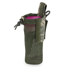 water bottle wholesale for sports UK - Outdoor Tactical Water Bottle Bag Kettle Pouch Holder Carrier Multi Colors For Outdoor Sport