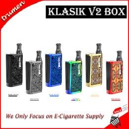 Опт Аутентичные Kangvape Klasik V2 Kit Встроенная батарея 650 мАч с емкостью картриджа 0,5 мл Блок переменного напряжения Мод
