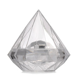 Chinese  7X7CM Clear Plastic Lovely Diamond Shape Candy Box Boxes Wedding Party Favor Box Candy Holders Banquet Gift Free Shipping LX6788 manufacturers