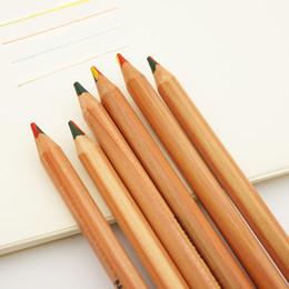 Discount rainbow pencils - 6PCS MARCO 6403 Colored Pencils 5B Beech Wood Pencil Rainbow Painting Pencil