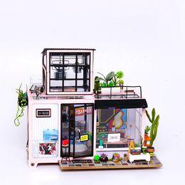 diy kids furniture 2018 - Educational DIY Kevin's Studio With Furniture Children Adult Miniature Wooden Doll House Model Building Kits Dollho