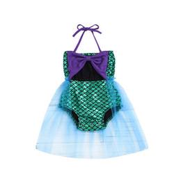 Swimwear Infant Australia - 2019 new Mermaid Kids Swimwear lace Girls Swimsuit One-piece Girls Swimwear Baby Swimwear princess Kids Bathing Suits Infant Beachwear A4559
