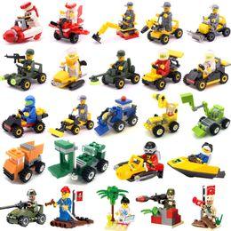 Super Blocks Australia - Cars Seris Building Block super car super speedboat Bricks drilling Truck Racing car Small plane Model Toys Boys Intelligent juguetes Boys