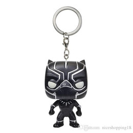$enCountryForm.capitalKeyWord Australia - low price Discout Big discout Funko Pocket POP Keychain - Black Panther Vinyl Figure Keyring with Box Toy Gift Good Quality Free Shipping
