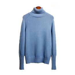 Wholesale High collar Sweaters Women Autumn Winter Knit Pullover Students Casual Top Thicken Bottoming shirt Female Thermal underwear