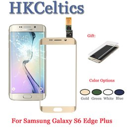 $enCountryForm.capitalKeyWord Australia - For Samsung Galaxy S6 Edge G925F G925 Edge Plus G928 Front Glass Touch Screen LCD Outer Panel Top Lens Replacement Spare Parts
