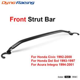 Tie kiTs online shopping - Front Upper Strut Brace Tie Bar Rear Kit For Honda Civic EG EK Del Sol Integra DC2 Front Strut Bar BX101526