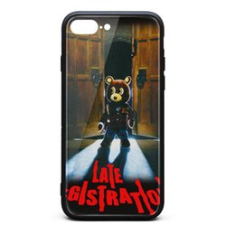 $enCountryForm.capitalKeyWord Australia - IPhone 8 Plus Case,iPhone 7 Plus Case Kanye West Late Registration Album 9H Tempered Glass Back TPU Bumper Drop Protection Phone Case