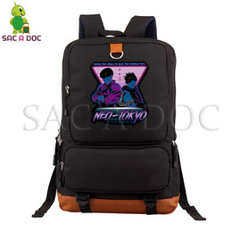 Discount green travel backpack - Akira Neo Tokyo Laptop Backpack School Bag for Teenage Boys Girls Casual Rucksack Women Men Large Capacity Travel Bags