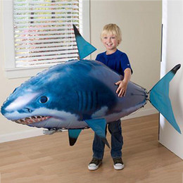 rc flying shark fish NZ - Remote Control Shark Toys Air Swimming Fish Infrared RC Flying Air Balloons Fish Kids Toys Gifts Party Decoration
