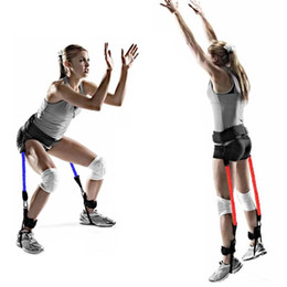 Discount jump trainer - Vertical Jumping Trainer Jump Resistance Bands leg Horizontal leaping Fitness for Basketball Tennis Running Strength