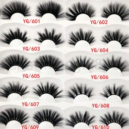 $enCountryForm.capitalKeyWord Australia - 2020 25mm False Eyelashes One Pairs set YG 01~10 30 styles thick fiber Natural Eyelash Thick Natural Looking Black Color Fashion Soft 30g