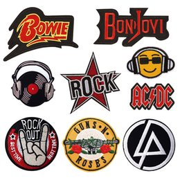 $enCountryForm.capitalKeyWord Australia - Punk Music Band Rock Iron On patch Embroidered Patches For Clothing Diy jacket Badges Stickers Garment Appliques wholesale