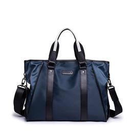 $enCountryForm.capitalKeyWord UK - Casual Men Briefcase Nylon Men's Handbag 2019 Waterproof Shoulder Bags For Men 14 Inches Laptop Bag Soft Handle Male Briefcases
