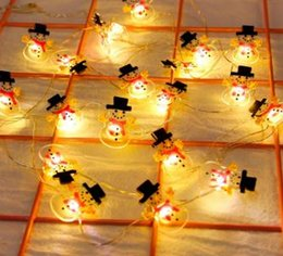 string light garland wholesale NZ - Snowman Christmas Tree LED Garland String Lights Christmas Decoration For Home Ornaments Navidad Natal New Year