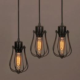 $enCountryForm.capitalKeyWord NZ - Free shipping Vintage Light Bulb Retro Industrial Edison 1 Light Metal Shade Ceiling Pendant Lamp Fixture Black With bulb