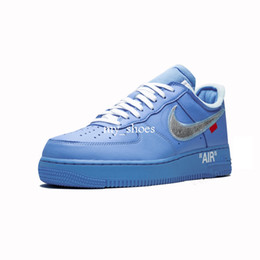 $enCountryForm.capitalKeyWord UK - New WHITE x 1 Low MCA University Blue 2019 Mens Running Shoes Sports fashion Designer Sneakers air one des chaussures off shoes 36-45