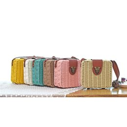 $enCountryForm.capitalKeyWord Australia - good quality Woman Straw Woven Bag Box 2019 Women's Bag Small Candy Color Rattan Beach Bags Vintage Crossbody Bag Summer Ladies Handbag