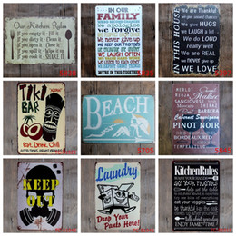 Home Painting Designs Australia - Metal Signs Romantic Poetry Tin Sign Vintage Letters Bar Painting Garage Coffee Store Home Decoration 40 Designs Optional YW3192