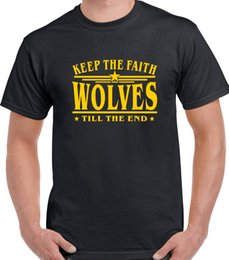 Jerseys Wolf Australia - Wolves football T Shirt printed Wolverhampton Wanderers sizes up to 5XL ktf Sound Activated Led T Shirt France Soccerer Jersey 2018