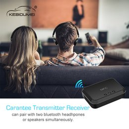 $enCountryForm.capitalKeyWord Australia - NFC Bluetooth Stereo Audio Receiver 3.5mm  RCA output Transmitter to Car Speaker TV Support 2 Phones for Car MP3 player Speaker