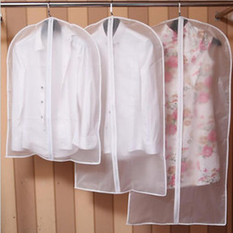 $enCountryForm.capitalKeyWord Australia - Storage Storage Bags Garment Clothes Suit Coat Dust Transparent Wardrobe Hanging Cover Closet Organizer Zip Lock Plastic Bags