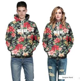 $enCountryForm.capitalKeyWord Australia - Fashion Men women Hoodies With Cap Print Red Flowers Green Leaves 3d Hooded Sweatshirts Hoody Tracksuit plus size 6XL