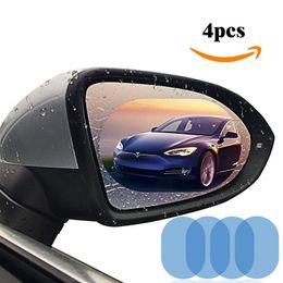 Clear View Car Australia - Car Rearview Mirror Film 4PCS HD Anti-fog Waterproof Protective Universal Car Screen Protector Rear View Mirror Clear Nano Film