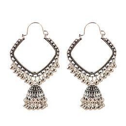 Wholesale tribal indian for sale - Group buy Brinco Women s Antique Indian Jhumki Jhumka Big Bells Dangle Earrings Oversize Pendientes Ethic Tribal Gypsy Jewelry