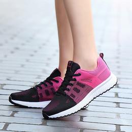 $enCountryForm.capitalKeyWord Australia - Women Running Shoes Flying Weave Tidal Shoes Women's Soft-soled Light Stitching Flexible Trainers training Chaussures Femm