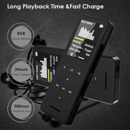 MP3 MP4 Player bluetooth Speaker touch screen hi fi fm radio mini USB mp3 sport MP 3 HiFi music player portable metal walkman on Sale